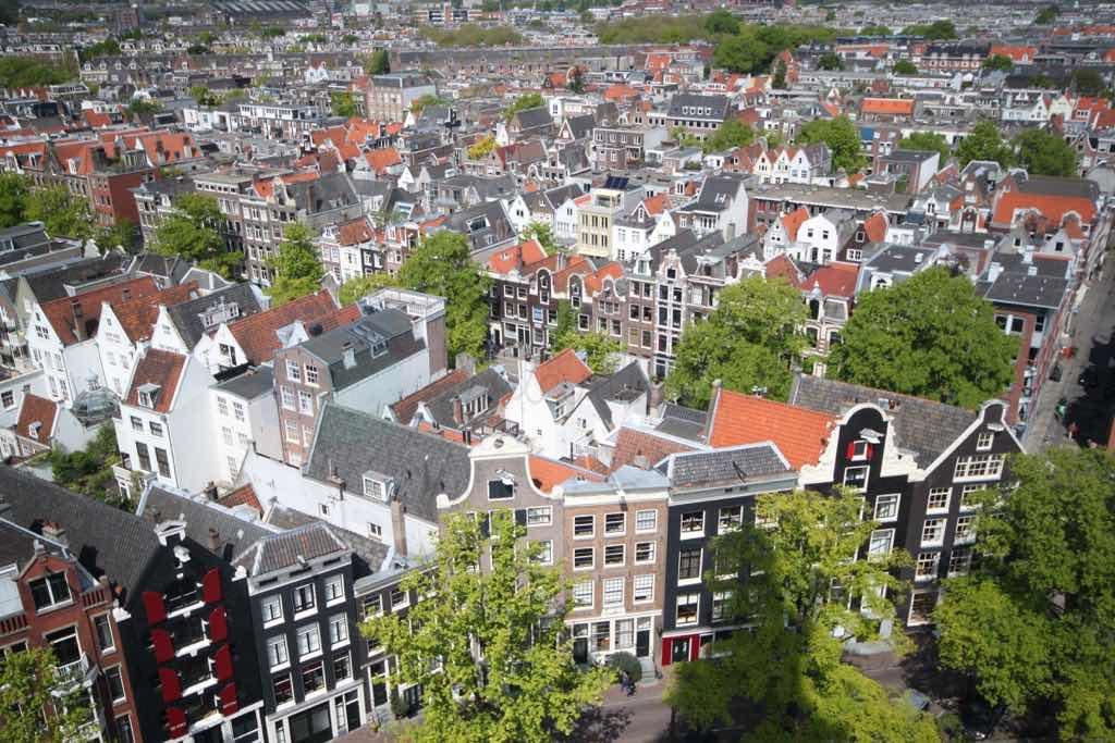 Westerkerk'den Amsterdam'ı tepeden görebilirsiniz.