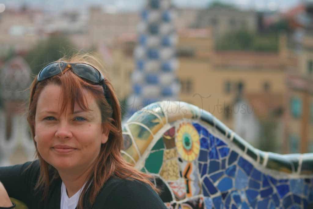 Parc Guell'de Barselona simgelerinden