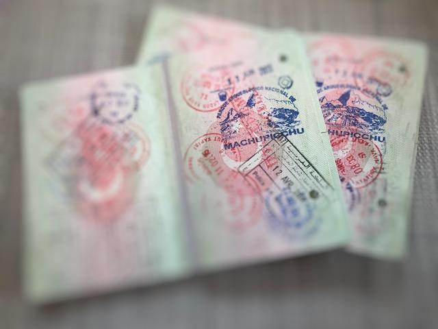 Pasaportlarımızdaki Machu Pichu damgaları