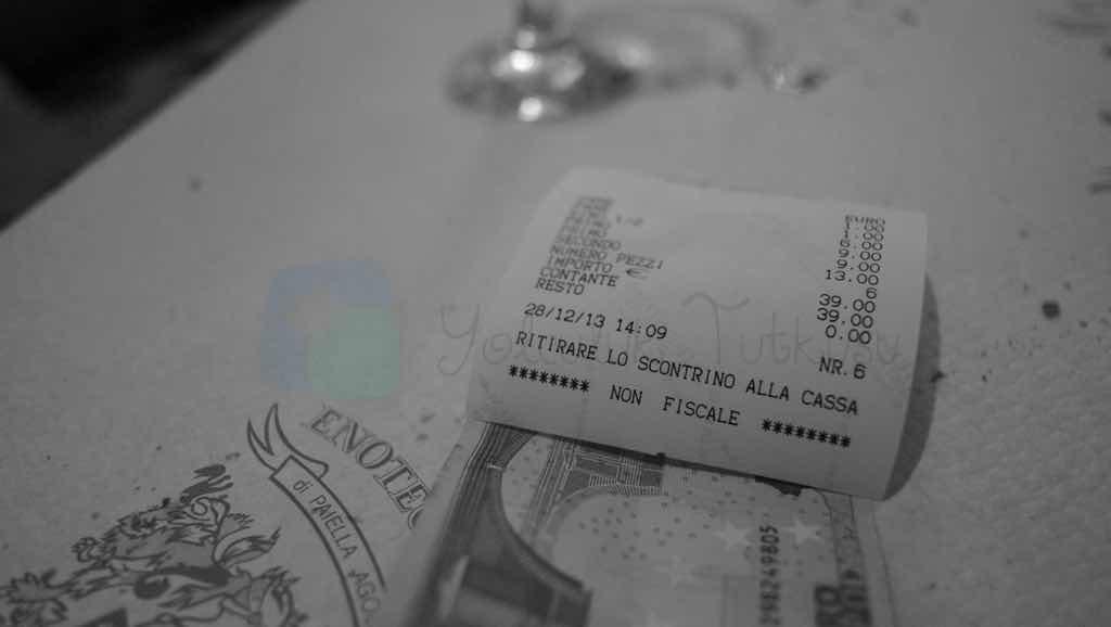 Roma'da yemek fiyatları