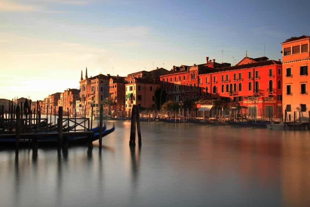 Uzun Pozlama Kanal ve venedik