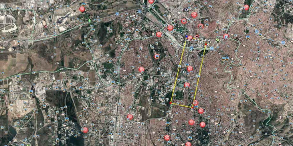 Kızılay'da 3,6 milyon m2
