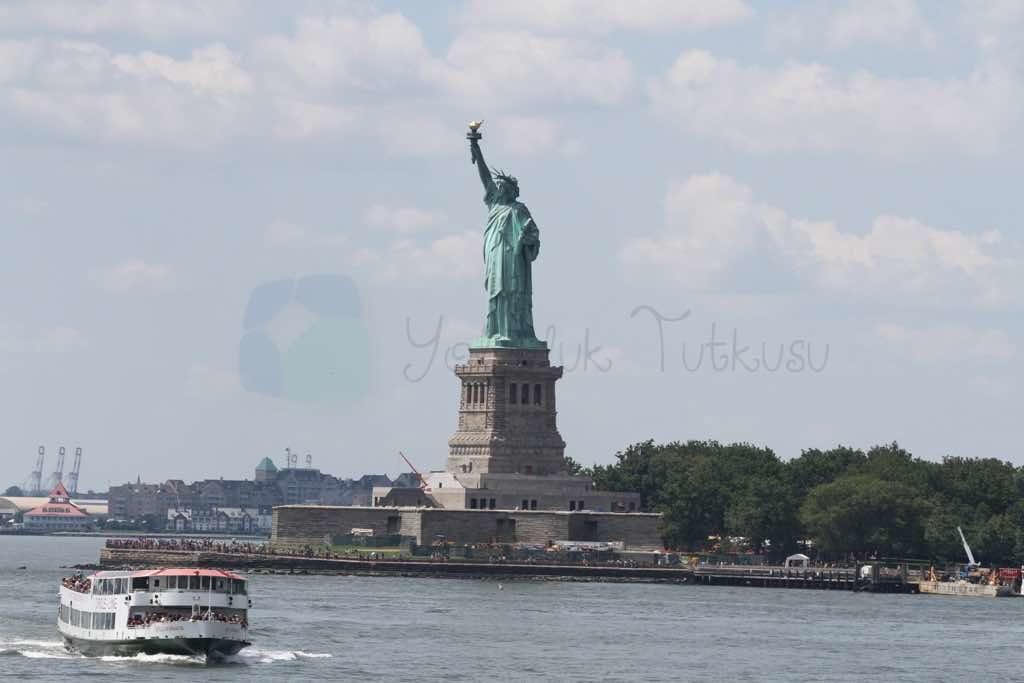 Özgürlük Heykeli New york Liberty Island'da.