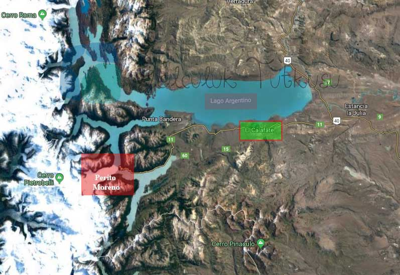 Moreno Buzulu, El Calafate ve Lago Argentino