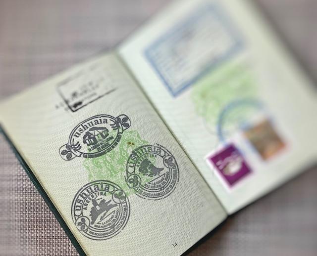 Pasaportmuzdaki Ushuaia Damgaları
