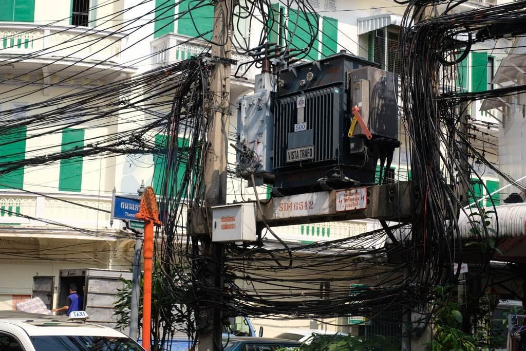 Bangkok elektrik telleri tam bir efsane