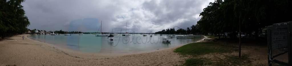 Grand Baie Mauritius un en büyük ve bilinen koyu