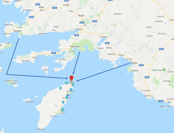 Türkiye'den feribotla ulaşabileceğiniz noktalar