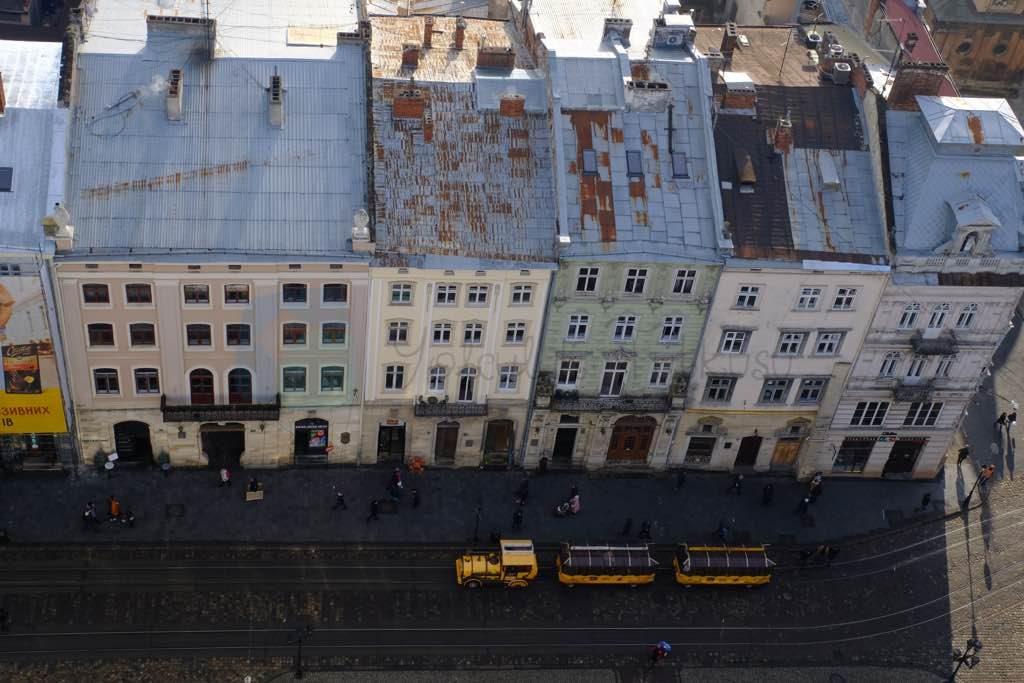 lviv ratusha kulesinden manzara