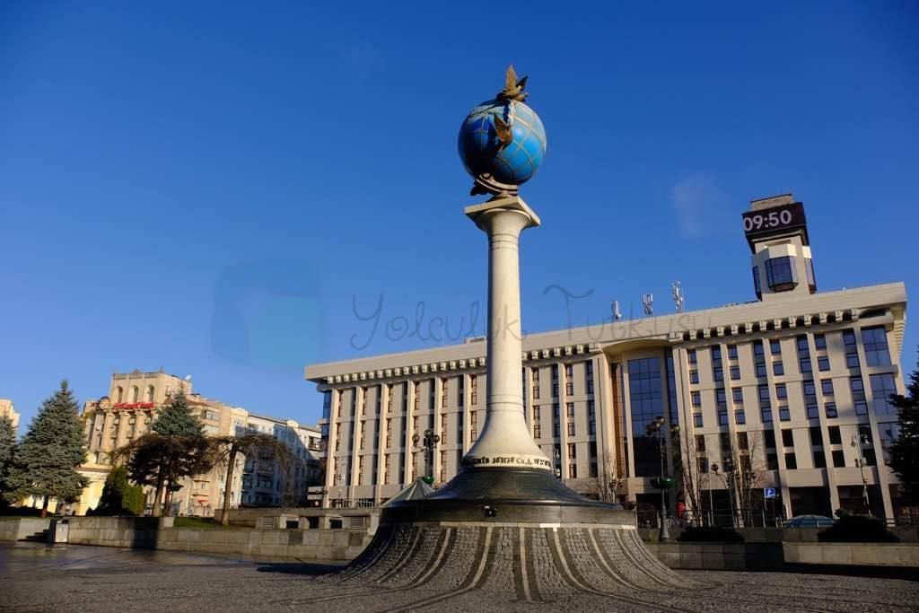 Maidan Nezalezhnosti kiev in ana meydanı