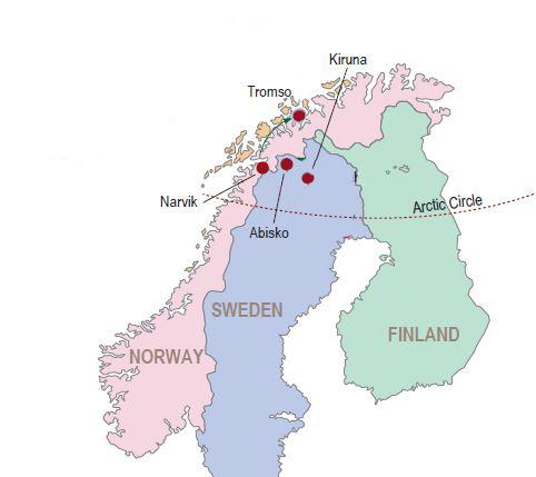 Lapland haritası