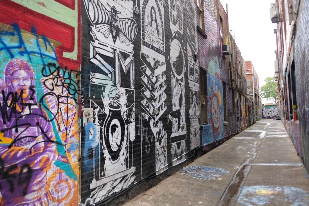 Hardware Lane Melbourne sokak sanatı için önemli