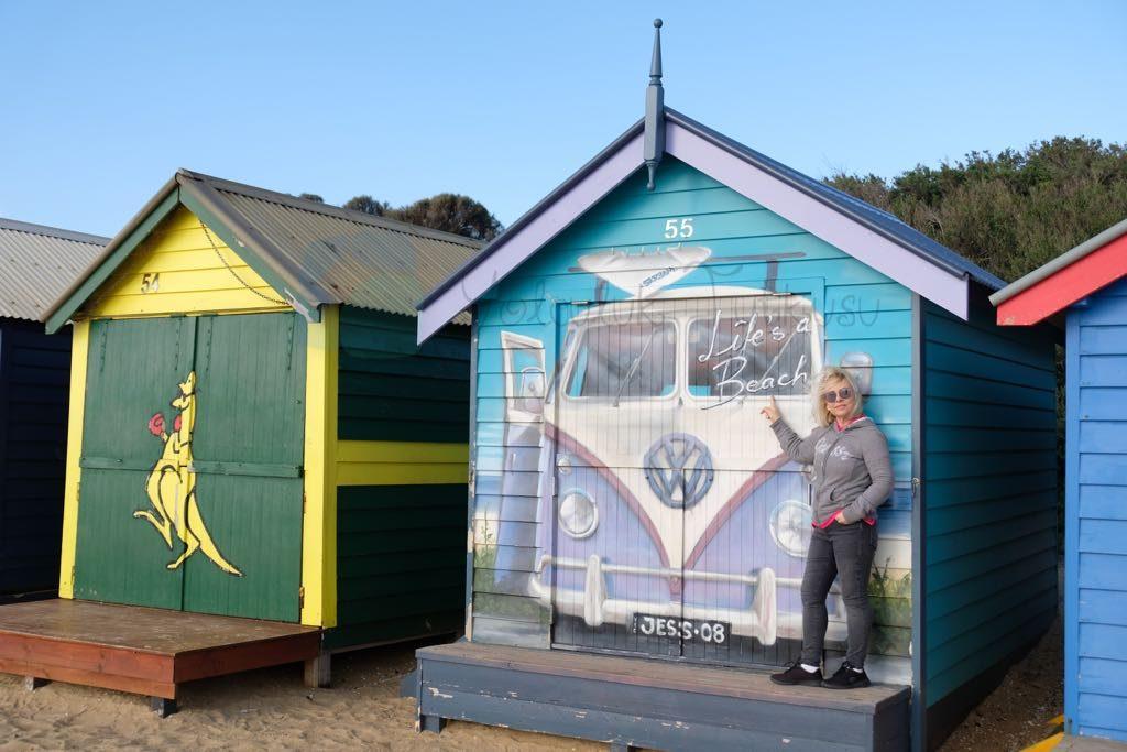 Brighton Bathing Boxes melbourne da bizim en beğendiğimiz yerlerden oldu